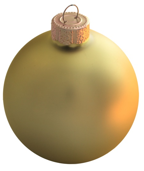 Soft Yellow Glass Ball Christmas Ornament