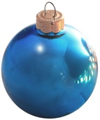 "4"" Teal Ball Ornament - Shiny Finish"