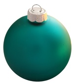 "3.25"" Turquoise Ball Ornament - Matte Finish"