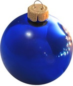 "1.5"" Wedgewood Blue Ball Ornament - Shiny Finish"