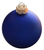 "3.25"" Delft Blue Ball Ornament - Matte Finish"