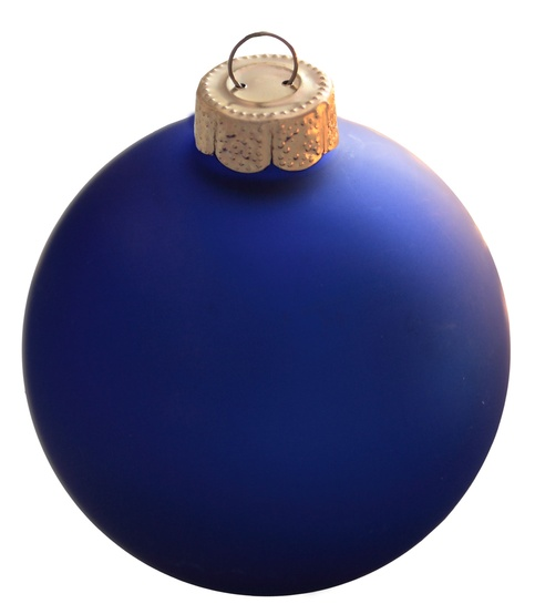 "2.75"" Delft Blue Ball Ornament - Matte Finish"