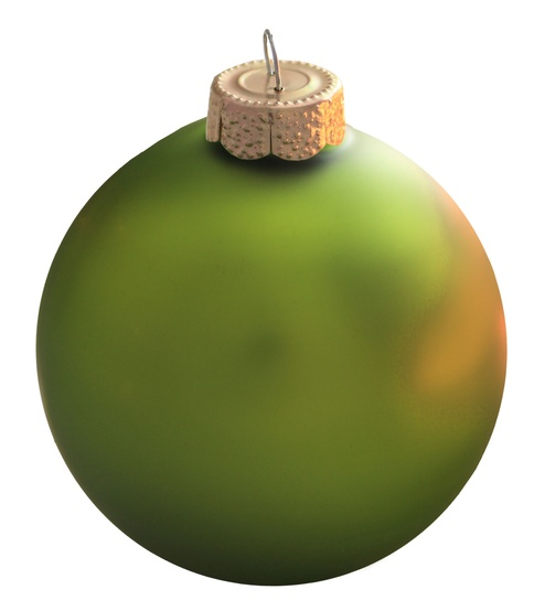 "4"" Kiwi Ball Ornament - Matte Finish"