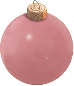 Pale Pink Glass Ball Christmas Ornament
