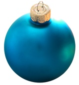 "3.25"" Teal Ball Ornament - Matte Finish"