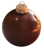 "4"" Chocolate Ball Ornament - Pearl Finish"