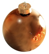 "4"" Chocolate Ball Ornament - Shiny Finish"
