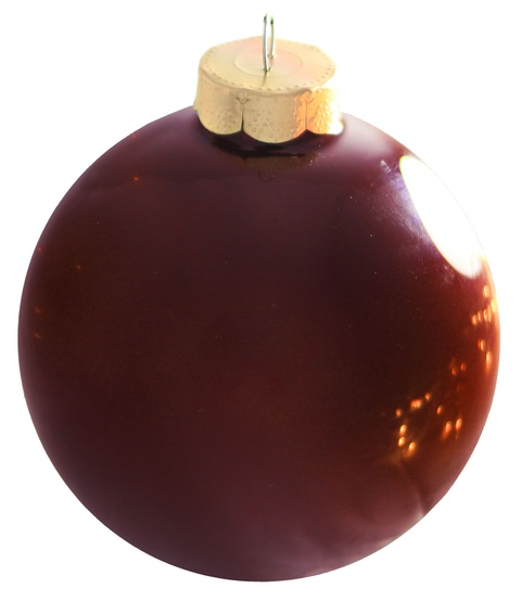 "4"" Burgundy Ball Ornament - Pearl Finish"