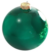 "4"" Emerald Ball Ornament - Shiny Finish"