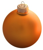 "4"" Orange Ball Ornament - Matte Finish"