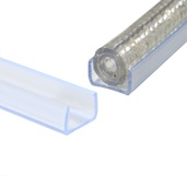 "3' - 10mm (3/8"") Rope Light Channel Track"