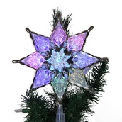 "10"" Silver LED Star Tree Topper"