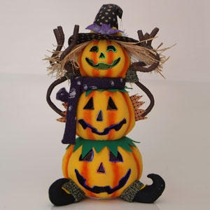 Fiber Optic Animated Pumpkin Halloween Decoration