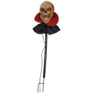 "48"" Vampire Head Lawn Stake Halloween Decoration"