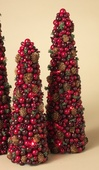 "24"" Large Berry Cone Tree Christmas Decoration"