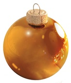 "3.25"" Orange Ball Ornament - Shiny Finish"