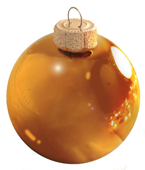"2"" Orange Ball Ornament - Shiny Finish"