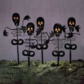 Five Piece Skeleton Light Stake Set