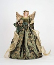 """18"""" Green and Gold Angel Tree Topper"""