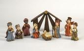 "5"" Mini Christmas Nativity Scene, 9 Piece Set"
