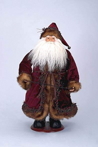 "24"" Burgundy Santa Wine Holder"