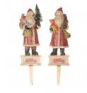 "12"" Old World Santa Christmas Stocking Holders, 2 Piece Set"