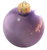 "3.25"" Soft Lavender Ball Ornament - Pearl Finish"