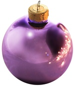 "7"" Soft Lavender Ball Ornament - Shiny Finish"