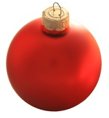Rosewood Glass Ball Christmas Ornament