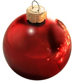 "7"" Rosewood Ball Ornament - Shiny Finish"
