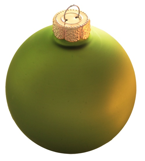 "4"" Light Green Ball Ornament - Matte Finish"