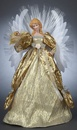 "16"" Gold Fiber Optic Angel Tree Topper"