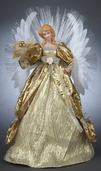 "16"" Gold Fiber Optic Angel Tree Topper"
