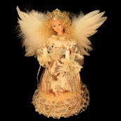 "9.5"" Platinum Angel Tree Topper"