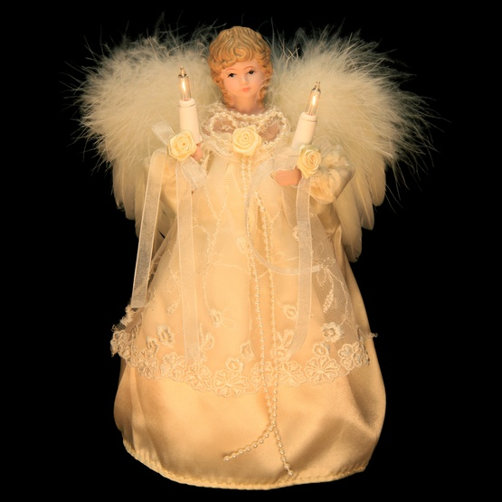 "9"" Ivory Angel Tree Topper"