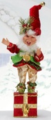 "19"" Mark Roberts Deck the Halls Elf Stocking Holder"