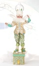 "23.5"" Snowglobe Fairy Christmas Stocking Holder"