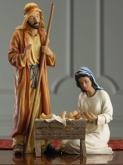 "12.75"" Christmas Nativity, 11 Piece Set"
