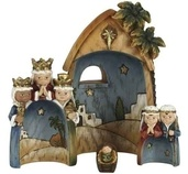 Nesting Children Nativity Collectible, 4 Piece Set
