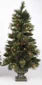 4' Bedford Topiary Prelit Potted Tree with Clear Lights