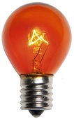 S11 Transparent Amber / Orange, 10 Watt Replacement Bulbs