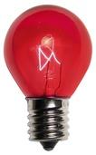 S11 Triple Dipped Transparent Pink, 10 Watt Replacement Bulbs