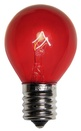 S11 Transparent Red, 10 Watt Replacement Bulbs