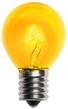 S11 Triple Dipped Transparent Yellow, 10 Watt Replacement Bulbs