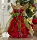 "16"" Christmas Angel Tree Topper in Burgundy"
