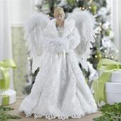 """16.5"""" White Angel Tree Topper"""