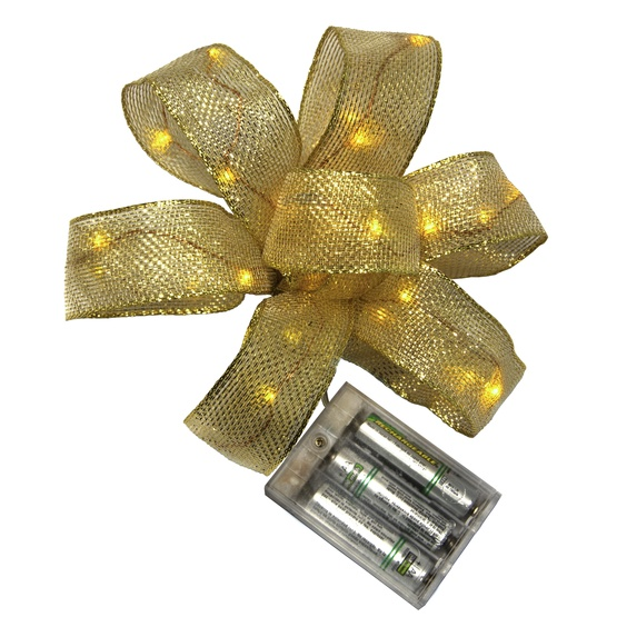 35 Gold Battery Operated LED Ribbon Fairy Lights, Gold Wire
