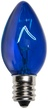 C7 Blue Christmas Light Bulbs, Transparent