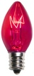 C7 Pink Christmas Light Bulbs, Transparent