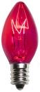 C7 Pink Christmas Light Bulbs, Transparent